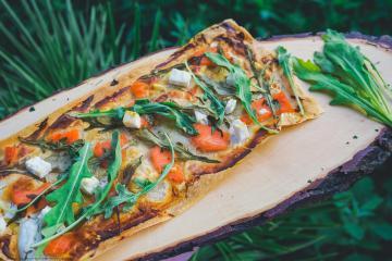 Flamkuchen mit Lachs - Gesunde kalorienarme Rezepte