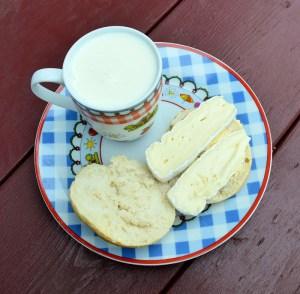 mælk og ost