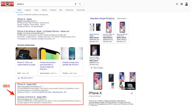 como se ven resultados de seo en desktop - como usar google