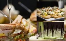 Gazpacho, club sandwiches, poached eggs