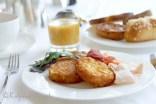 Hash potatoes breakfast at Les Trois Couronnes