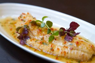 Sweet sour sole fish