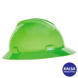 MSA Fastrack V-Gard Hats Bright Lime Green Head Protection