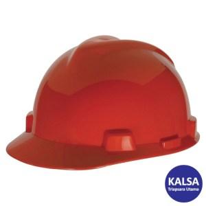 MSA Staz On V-Gard Caps Red Head Protection