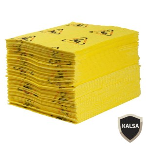Brady CH100 Chemical Brightsorb High Visibility Absorbent Pad
