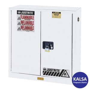 Justrite 893005 White Industrial Safety Cabinet