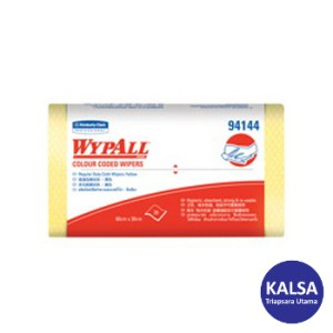 Kimberly Clark 94144 Yellow Wypall Color Coded Wiper Regular Duty