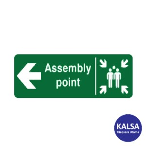 Safety Sign Assembly Point Left Direction Reflective with Aluminium Board