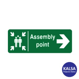 Safety Sign Assembly Point Right Direction with Aluminium Board