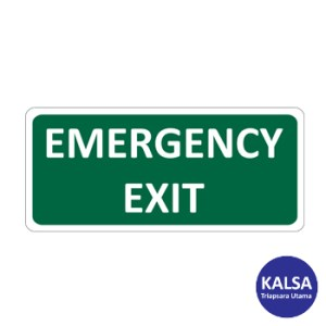 Safety Sign Emergency Exit Glow In The Dark Sticker Only