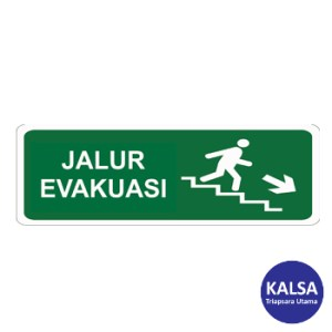 Safety Sign Evacuation Route Direction Go Down The Right Ladder Glow In The Dark with Acrylic Board