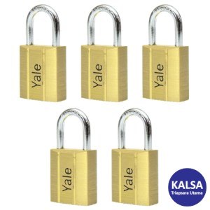 Yale V140.50KA5 V-Series Solid Brass Shackle 50 mm Security Padlock
