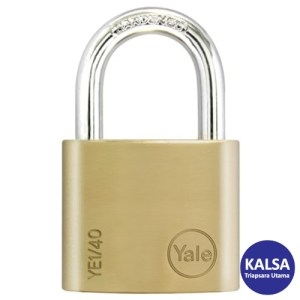 Yale YE1/40/122/1 Essential Series Indoor Brass Shackle 40 mm Security Padlock