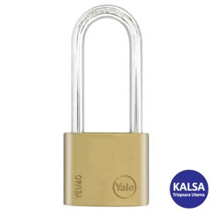 Yale YE1/40/152/1 Essential Series Indoor Brass Long Shackle 40 mm Security Padlock
