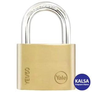Yale YE1/50/126/1 Essential Series Indoor Brass Shackle 50 mm Security Padlock