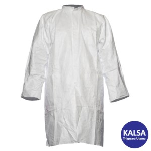 Dupont TY PL30 S WH NP Tyvek 500 Labcoat with Press Stud and Pocket