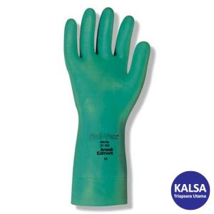 Ansell Sol-Vex 37-155 Nitrile Immersion Chemical and Liquid Protection Glove