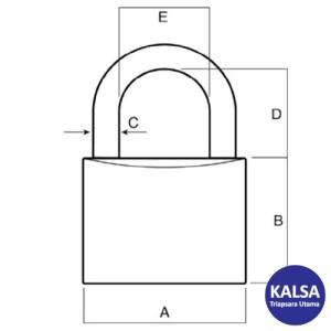 Lockwood 110/25/115/2DP Solid Brass 25 mm Security Padlock