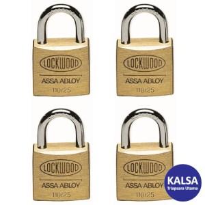 Lockwood 110/25/115/4DP Solid Brass 25 mm Security Padlock