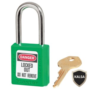 Master Lock 410GRN Green Keyed Different Safety Padlock Zenex Thermoplastic