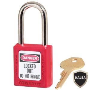 Master Lock 410MKRED Master Keyed Safety Padlock Zenex Thermoplastic