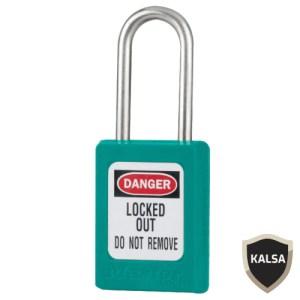 Master Lock S33TEAL Keyed Different Zenex Snap Lock Safety Padlock