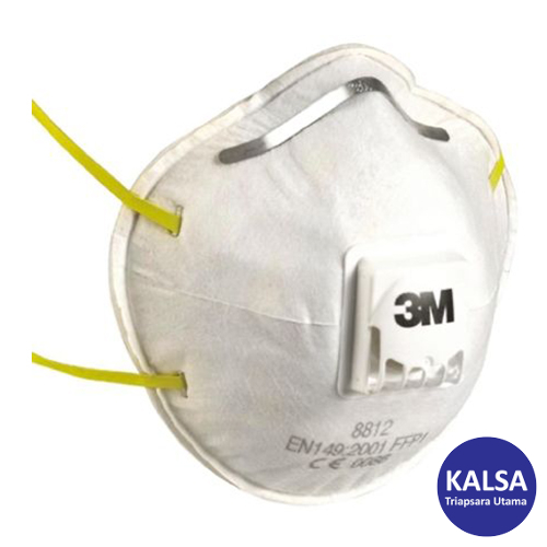 Distributor 3M 8812 P1 Dust and Mist Valved Respiratory Protection, Jual 3M 8812 P1 Dust and Mist Valved Respiratory Protection