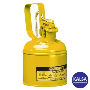 Justrite 10111 Type I Yellow Small Capacity Trigger Safety Container