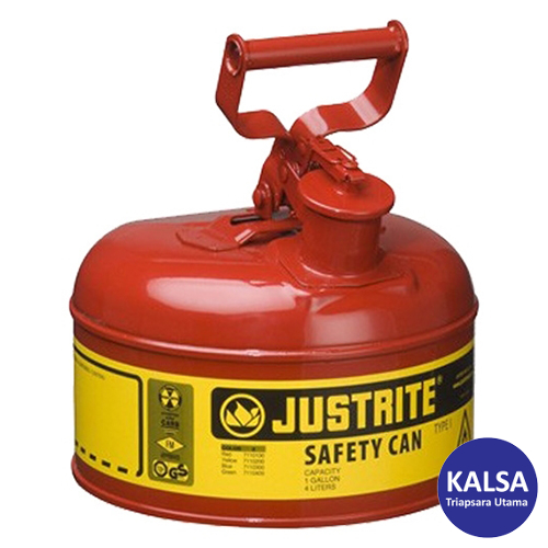 Distributor Justrite 7110100 Type I Red Larger Capacity Trigger Safety Container