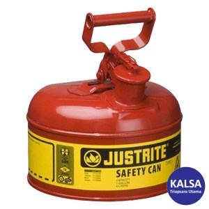 Justrite 7110100 Type I Red Larger Capacity Trigger Safety Container
