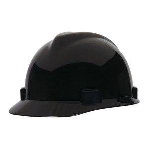 MSA Staz On V-Gard Caps Black Head Protection