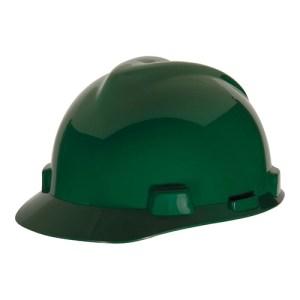 MSA Staz On V-Gard Caps Green Head Protection