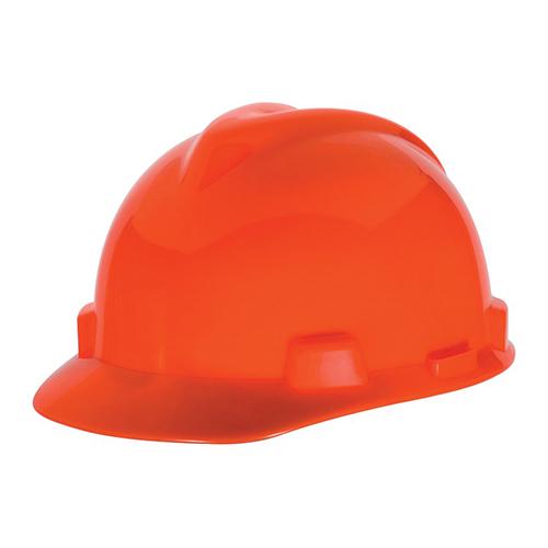 MSA Staz On V-Gard Caps Hi Viz Orange