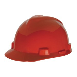 MSA Staz On V-Gard Caps Red Head Protection