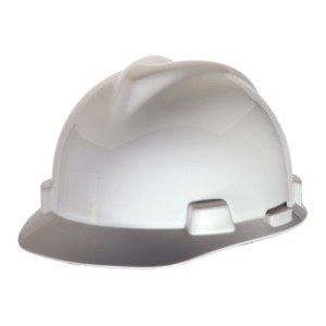 MSA Staz On V-Gard Caps White Head Protection