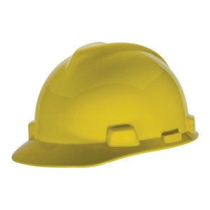 MSA Staz On V-Gard Caps Yellow Head Protection