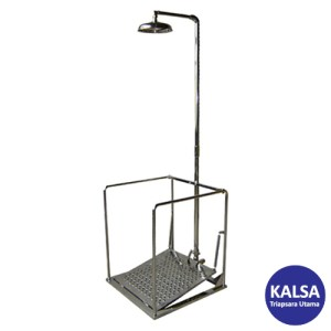 CIG 21CIG15025500 Galvanised and Painted Pedestal Mounted with Support Eye Wash