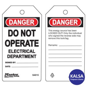 Master Lock S4015 Guardian Extreme Safety Tags