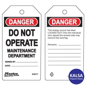 Master Lock S4017 Guardian Extreme Safety Tags