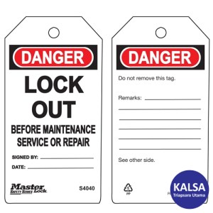 Master Lock S4040 Guardian Extreme Safety Tags