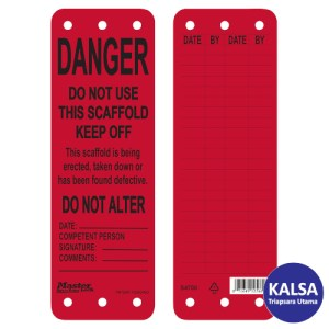 Master Lock S4700 Scaffolding Safety Tag