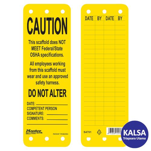 distributor master lock S4701 (Yellow), distributor safety tag S4701 (Yellow), jual Master Lock S4701 (Yellow), jual safety tag S4701 (Yellow), jual loto S4701, distributor loto S4701