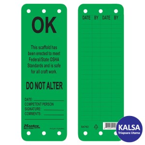 Master Lock S4702 Scaffolding Safety Tag