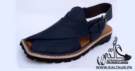 Kaptaan Chappal with Lightweight Sole Navy Blue Color