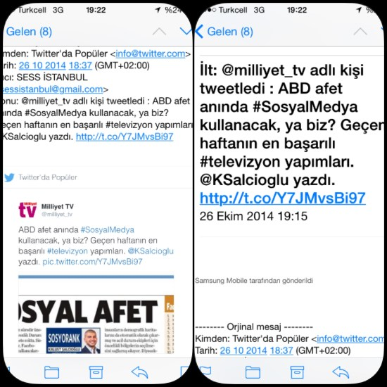 TWITTER MAILING - 26.10.2014