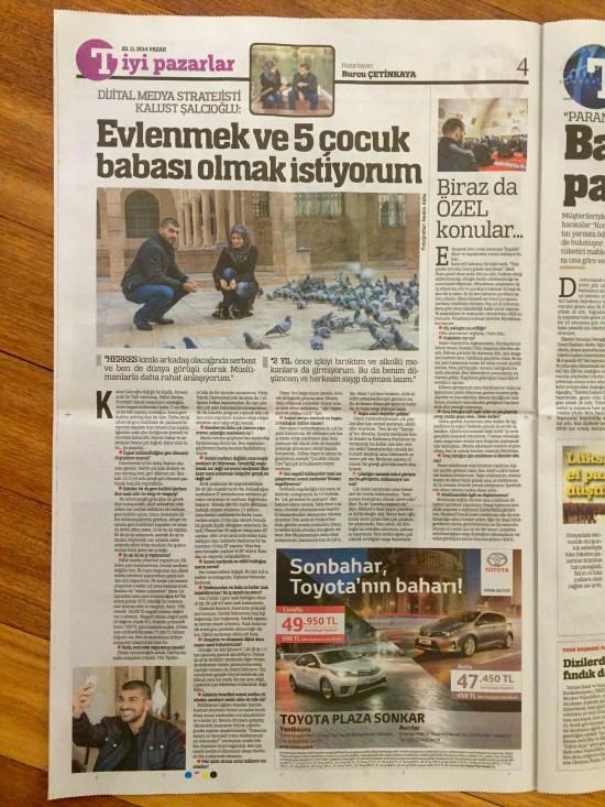 BURCU ÇETİNKAYA - 23 Kasım 2014 - Türkiye gazetesi - 003
