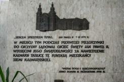 Uczniowie KEN i mieszkańcy uczcili 40 rocznicę wizyty honorowego obywatela Kalwarii Zebrzydowskiej - Ojca Świętego Jana Pawła II - 7 czerwca 2019 r. - fot. Andrzej Famielec {Filename»}_