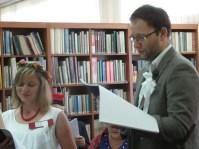 """Narodowe czytanie """"Wesela"""" Wyspiańskiego - fot. Biblioteka Miejska w Kalwarii Zebrzydowskiej 2.09.2017"""