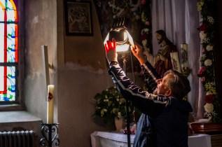 Na planie filmowym kolejnej części tryptyku o Mikołaju Zebrzydowskim - w Konwencie Bonifratrów w Zebrzydowicach - 3 lipca 2018r. - fot. Andrzej Famielec