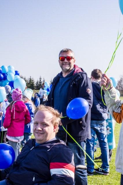 Niebieska Kalwaria - obchody Światowego Dnia Świadomości Autyzmu w Kalwarii - 2 kwietnia 2019 r. Kalwaria Zebrzydowska - fot. Andrzej Famielec IMGP5165